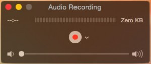 QuickTime Player Audio Window
