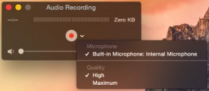 QuickTime Player Microphone Menu