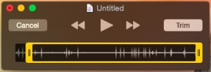 QuickTime Player Trim Edit