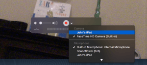 Record Screen of Attached iOS Device